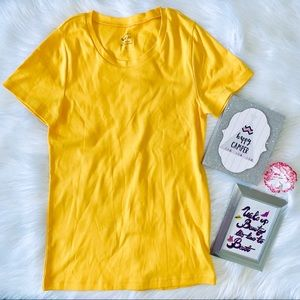J. CREW Perfect Fit Yellow Short Sleeve Top